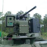 EOS RWS atop a Stryker