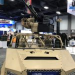 Polaris DAGOR at AUSA International in Washington, D.C. from October 8-11, 2018 featuring the EOS R400S Mk2 accompanied by the 30 MM, M230, and Javelin.